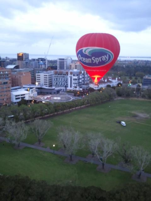 Take off from Fawkner Park