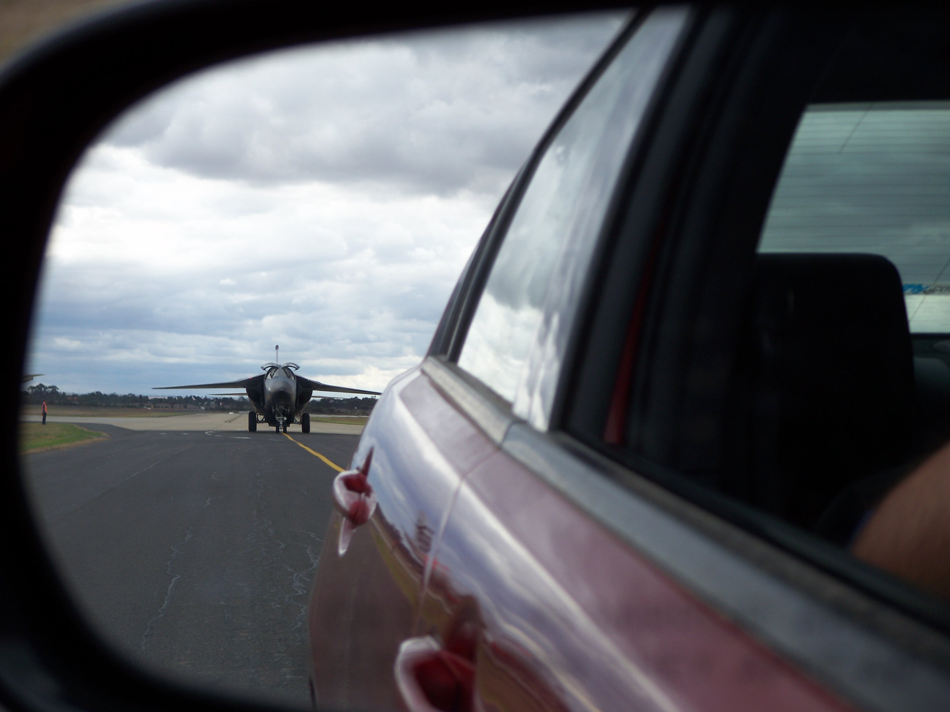 F111 Rear View Mirror