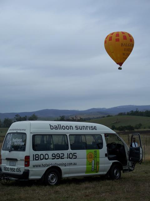 Balloon and Passenger Van