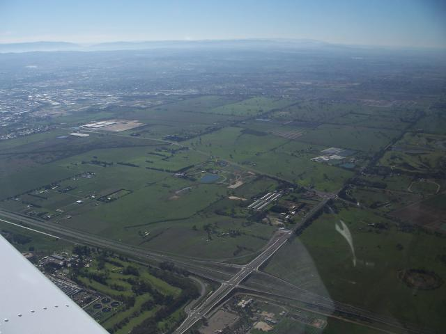 Southern Melbourne from the air